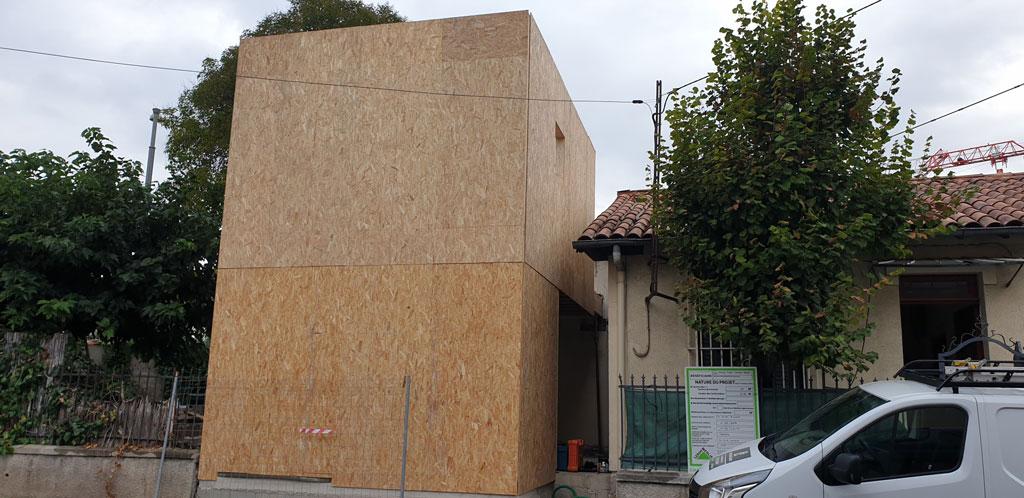 extension bois sur 2 niveaux Montpellier