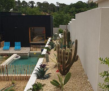 Ossature bois avec bardage noir | Montpellier