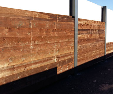 Mur anti propagation d'éclat d'obus