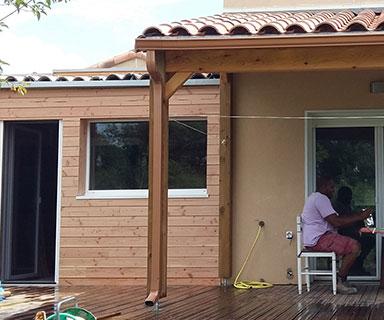 Extension bois et pergola | Lavérune (34)