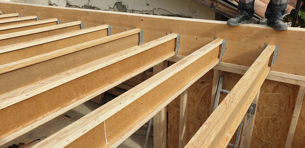 extension bois sur 2 niveaux Montpellier plancher